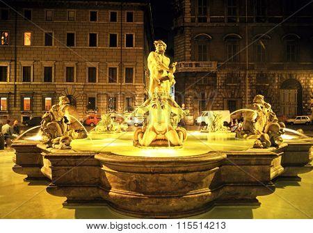 Fontana del Moro, Rome.
