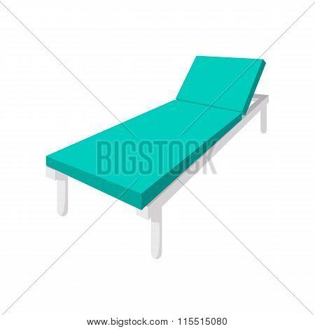 Hospital bed cartoon icon
