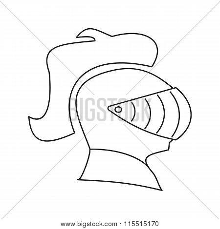 Medieval helmet thin line icon