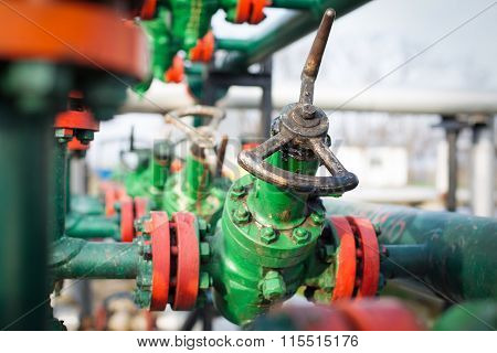 Industrial valve in petrochemical factory