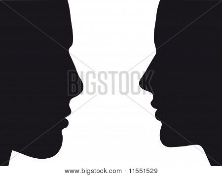 Silhouette Of Man And Woman | Vector.eps 8