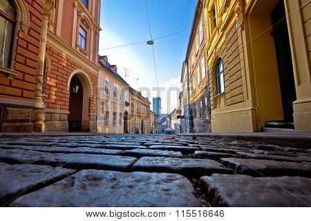 Old Paved Street Of Zagreb Upper Town