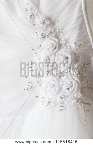Wedding Dress With Flowers