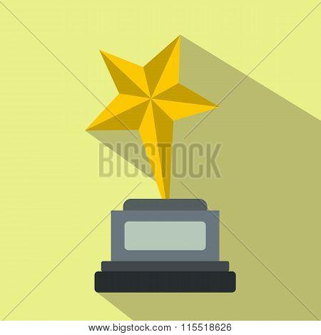 Goblet star flat icon