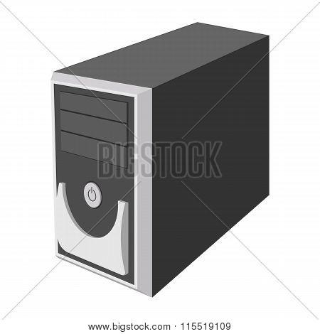 Computer case cartoon icon
