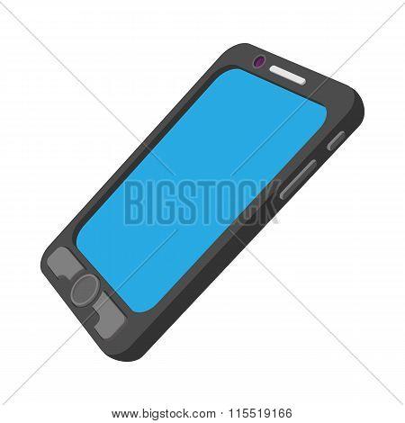 Black mobile phone cartoon icon