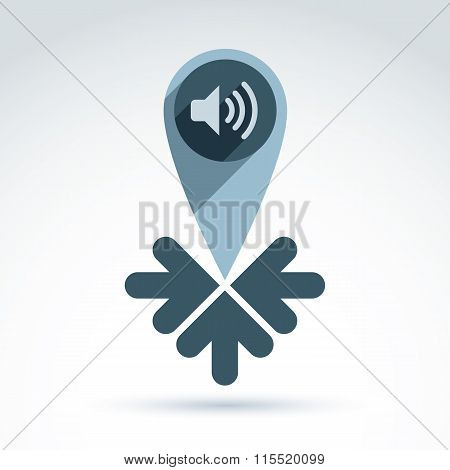 Information Gathering And News Theme Icon, Vector Conceptual Unusual Symbol For Your Design.