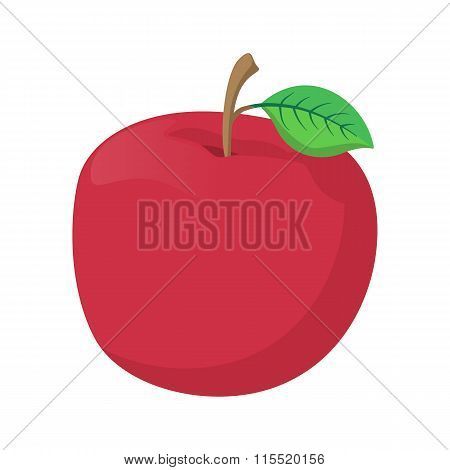 Fresh red apple cartoon icon