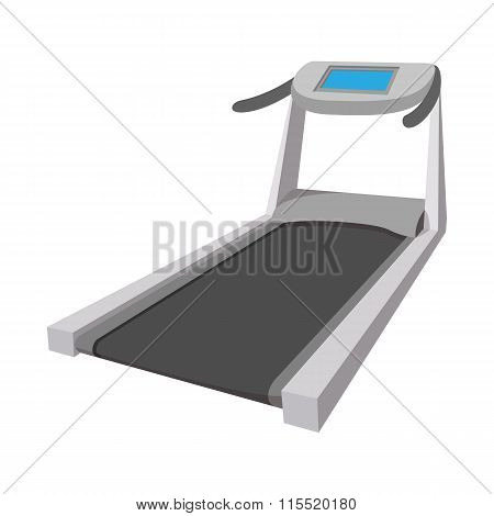 Treadmill cartoon icon