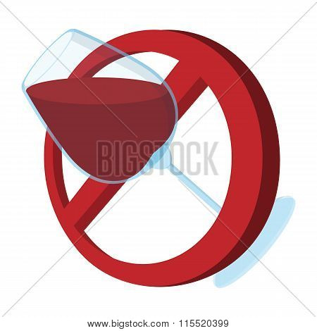 No alcohol sign cartoon icon
