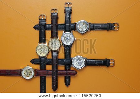 Leather watches for man