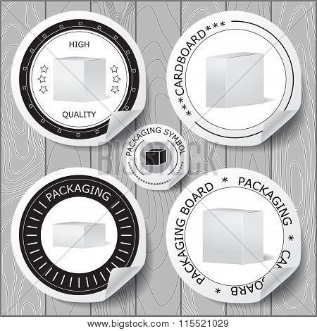Stock Vector Set Of Label For Packaging Board