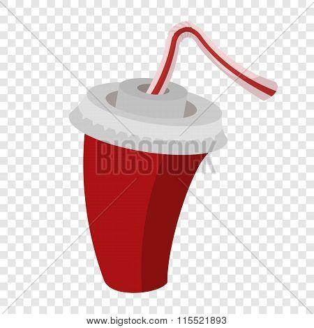 Cola or soda cartoon sign