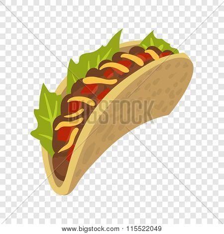 Cartoon mexican taco