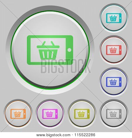 Mobile Shopping Push Buttons
