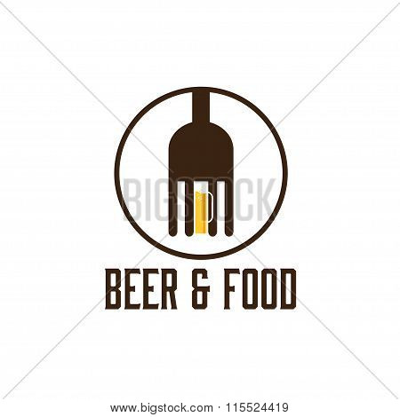 Food And Beer Vector Design Template