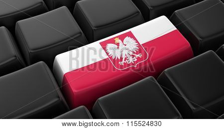 Key with Polish Flag