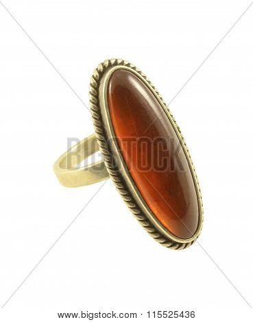 Ring With Amber