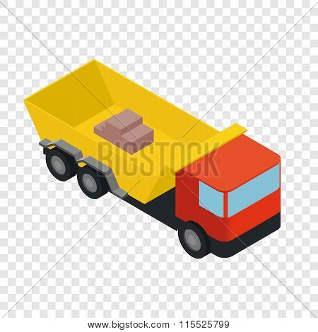 Isometric truck icon