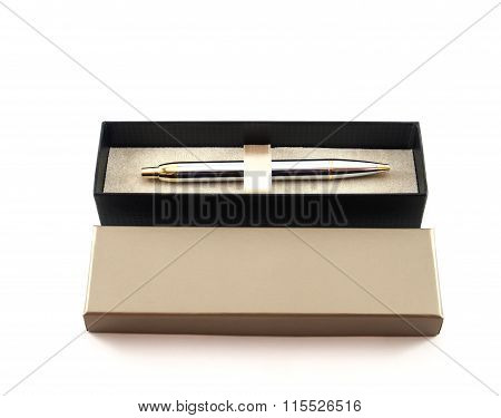 Pen In Box Of Isolated