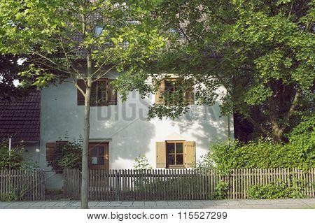 Village Street By Summer