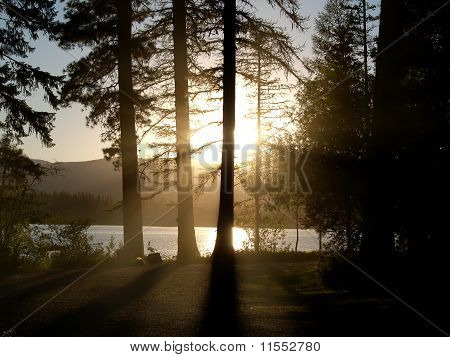 Sunset at Seeley Lake