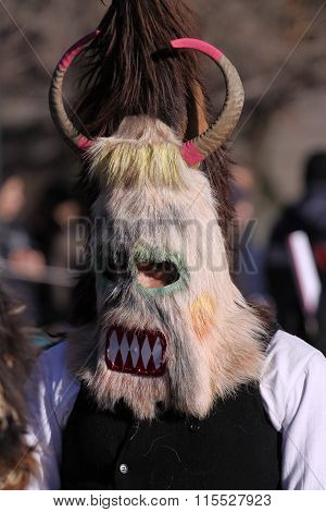 Man In Traditional Masquerade Costume