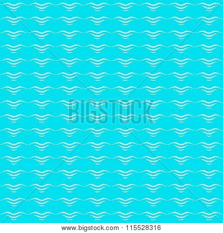 Waves, abstract seamless pattern vector illustration