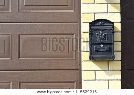 The mailbox at the entrance to a private house