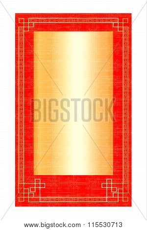 background frame red with gold rectangle