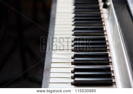 Old Piano Keys Of Electric Piano
