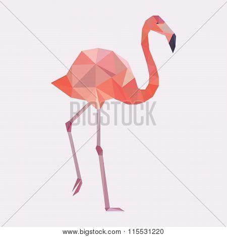 Vector geometric flamingo.