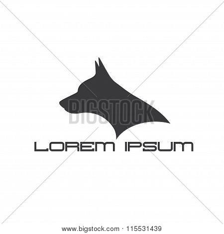 Silhouette Of Doberman Dog Head