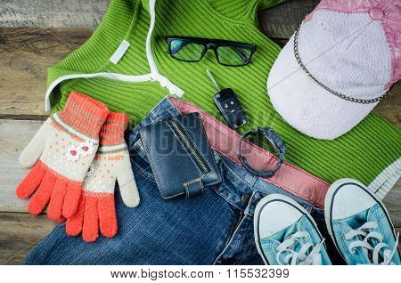 Travel Accessories, Clothes Wallet, Glasses, Phone Headset, Shoes Hat, Ready For Travel