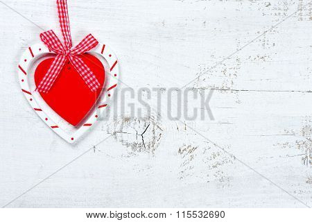 Heart On Wooden Backgroung - Valentine Day Texture