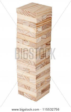 Wooden Blocks Tower