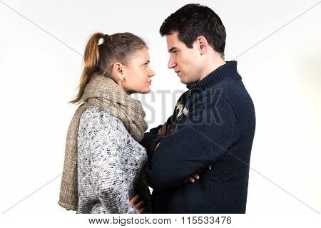 Couple In Fight
