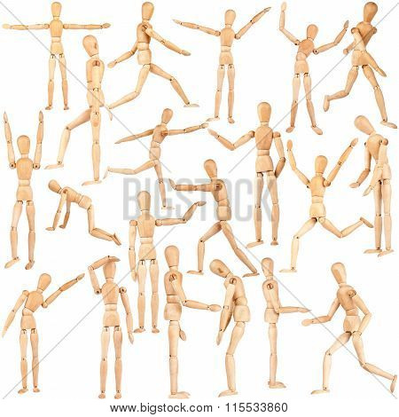Set Of Wooden Dummies