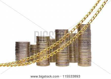 Stack Of Coins Graphed