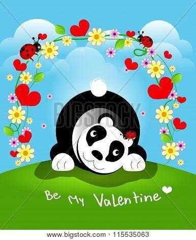 Be My Valentine Panda