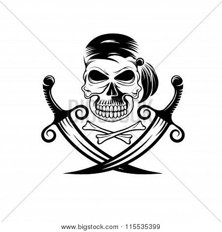 Pirate Skull With Swords And Bones