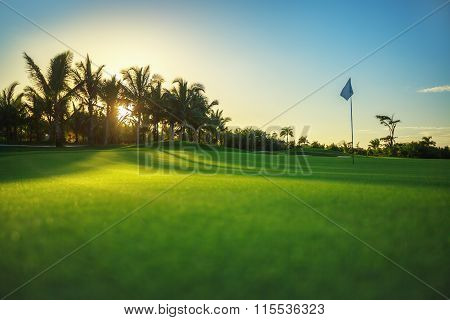 Golf Course In Luxury Tropical Resort