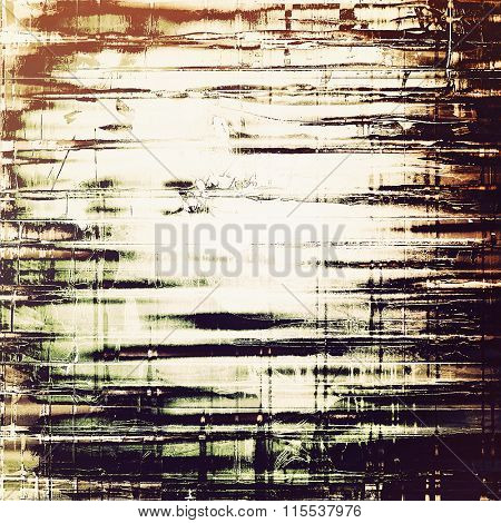 Weathered and distressed grunge background with different color patterns: yellow (beige); brown; black; gray; white