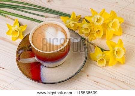 Coffee Cup with Spring Flowers