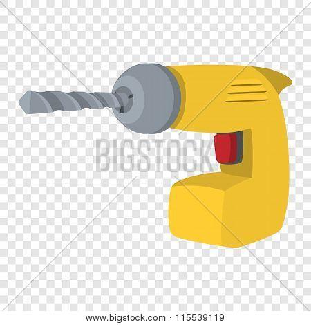 Drill yellow cartoon symbol