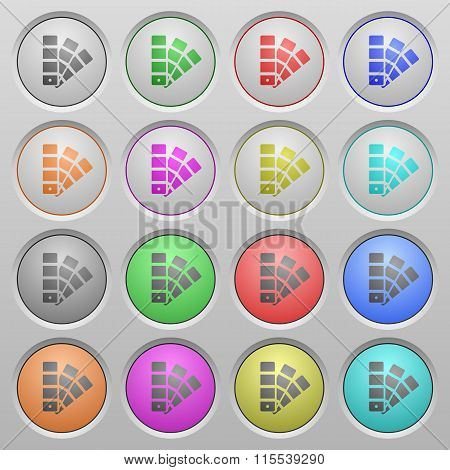 Color Swatch Plastic Sunk Buttons