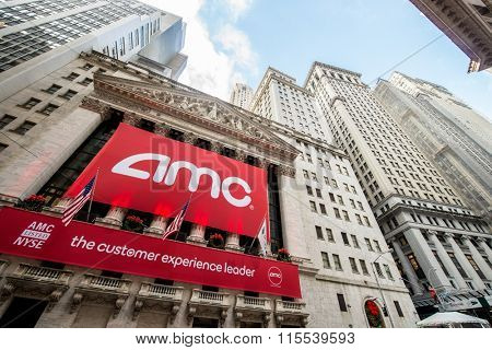 New York - DECEMBER 18, 2013: AMC IPO on New York Stock Exchange