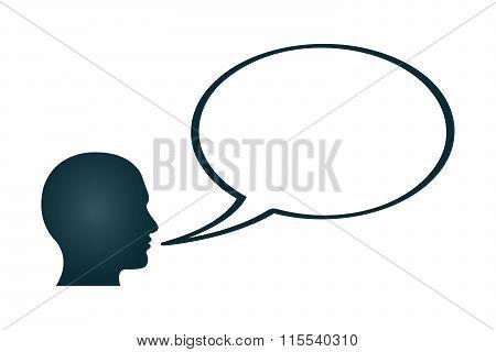 Blank Word Bubble