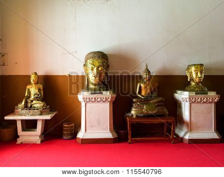 Statues In Buddhist Temple
