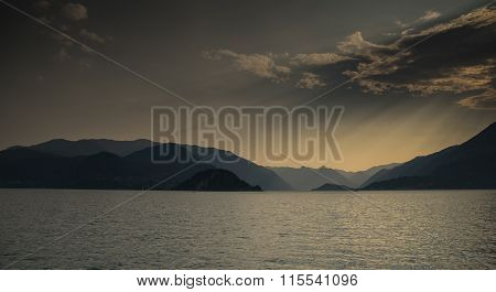 Varenna On Lago Como Sunset